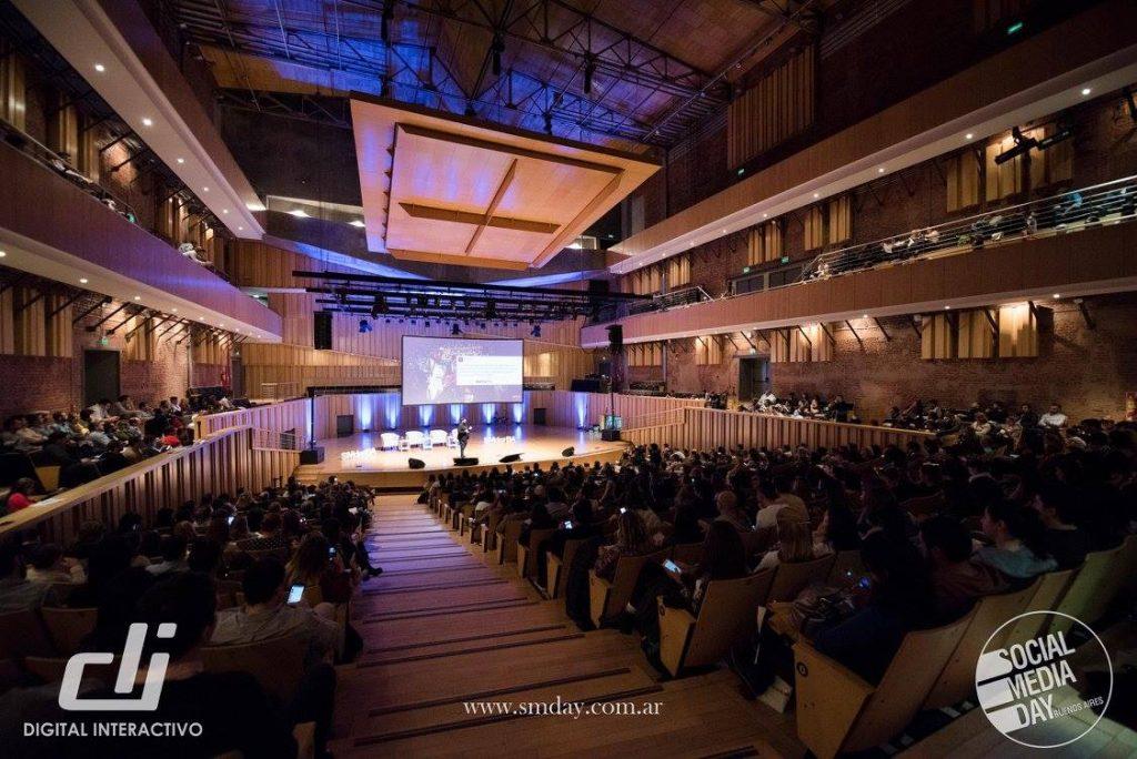 Vista del Auditorio de la Usina del Arte en el SMDay Buenos Aires