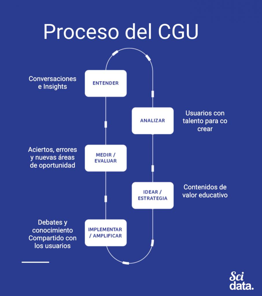 Proceso de contenido generado por los usuarios - CGU -