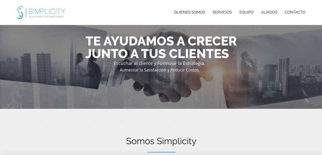 Sitio web de consultoría